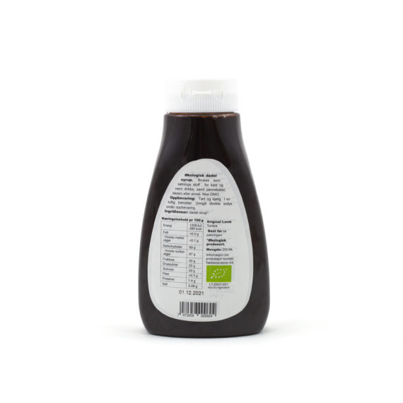 Økologisk daddel sirup 250 ml