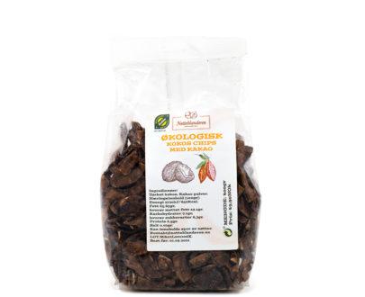 Økologisk Kokos chips med kakao