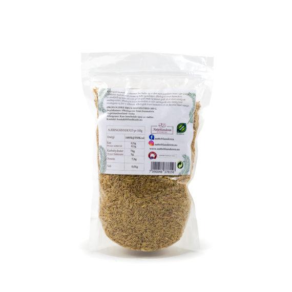 Økologisk brun basmatiris 500 g