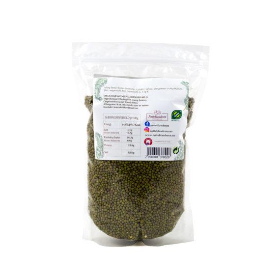 Økologiske mung bønner 800 g