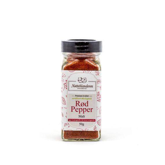 Økologisk rød pepper malt 52 g