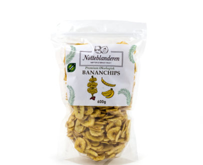 Økologiske bananchips 600 gr