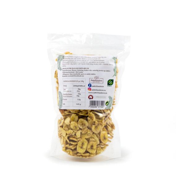 Økologiske bananchips 600 gr