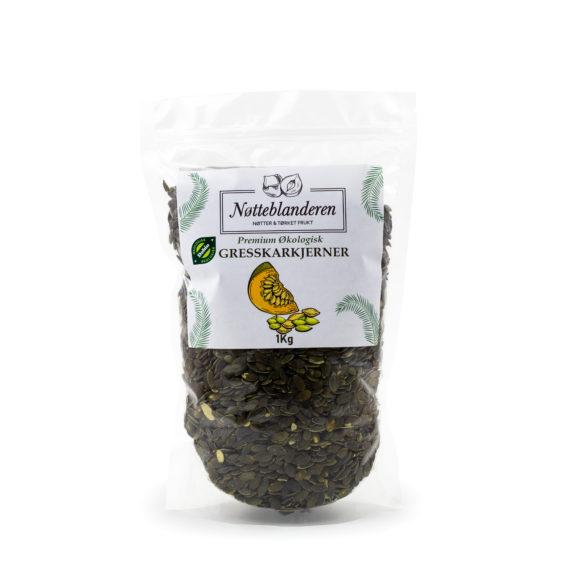 Økologiske gresskarkjerner 500 g eller 1 kg