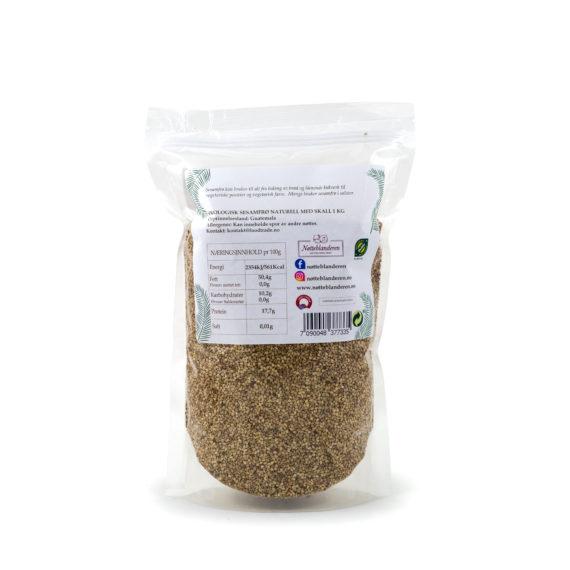 Økologiske sesamfrø naturelle med skall 1 kg