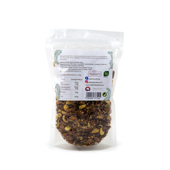 Økologisk nøttemiks 800 g