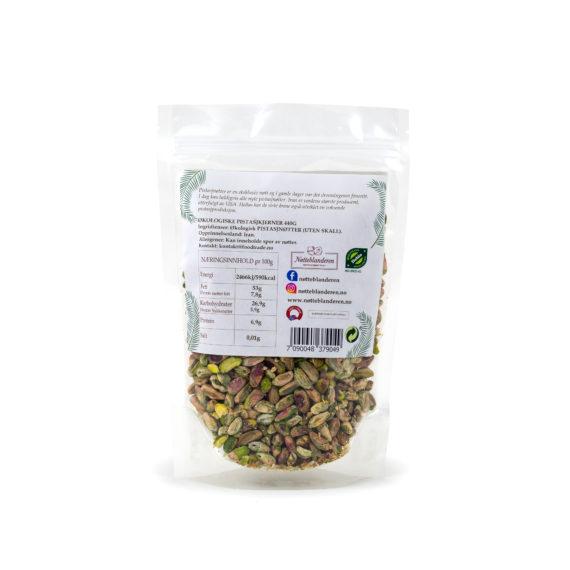 Økologiske pistasjkjerner 440 g (Pistasjnøtter uten skall)