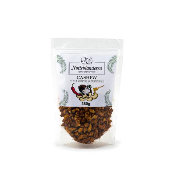 Cashewnøtter med chili, honning og kokos 380 g