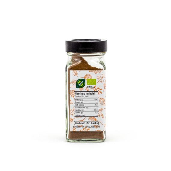 Økologiske malt ekte kanel 40 g