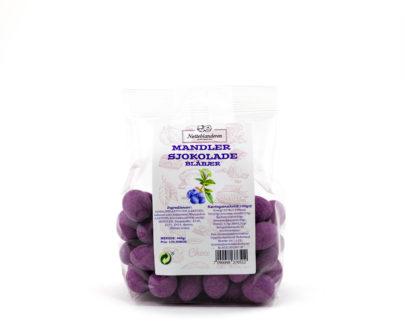 Mandler med sjokolade og blåbær 460 g