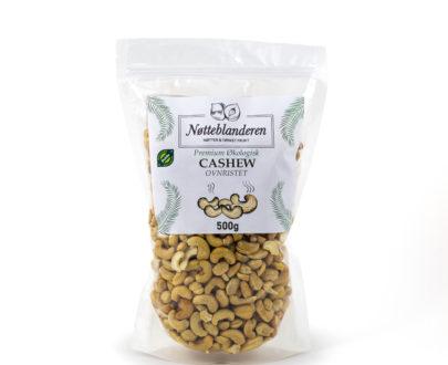 Økologiske cashewnøtter ovnristede og usaltede 500 g