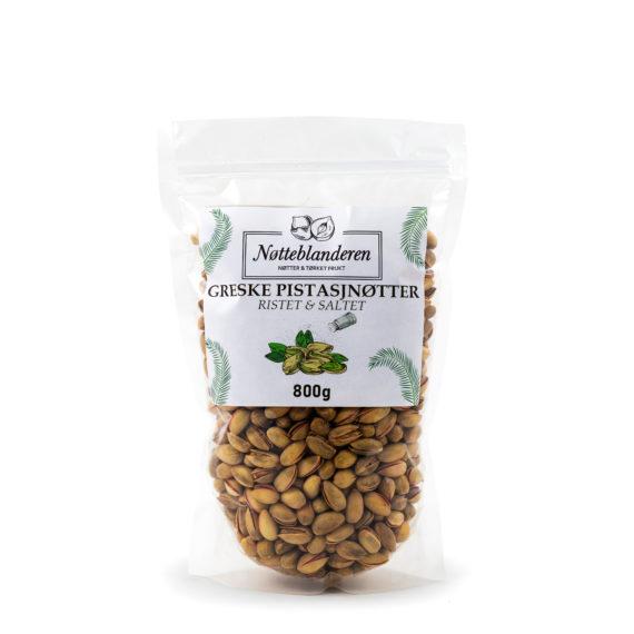 Pistasjnøtter ristede og saltede 800 g (GRESKE)