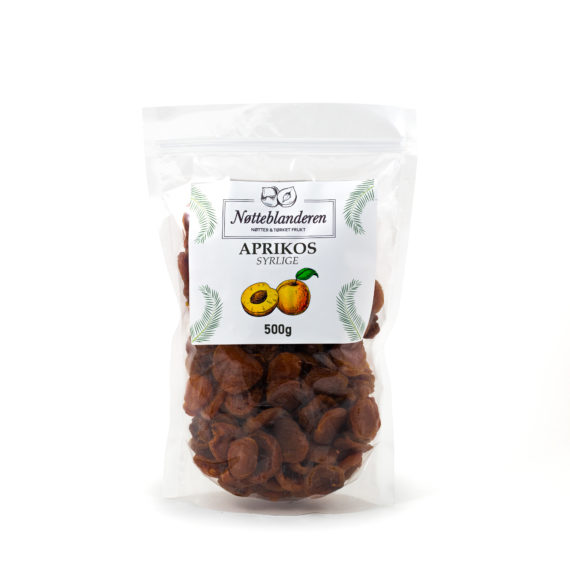 Syrlige aprikoser 500 g
