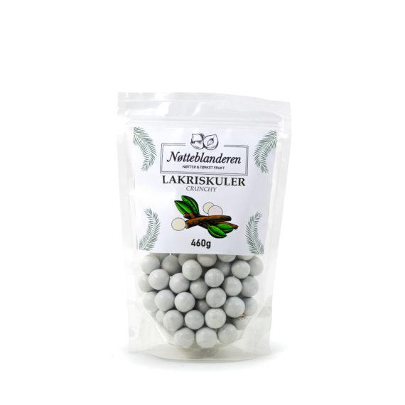 Lakriskuler crunchy hvit 460 g