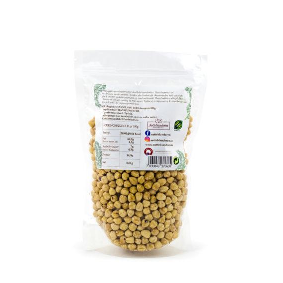 Økologiske hasselnøtter ristede (blansjerte) 800 g