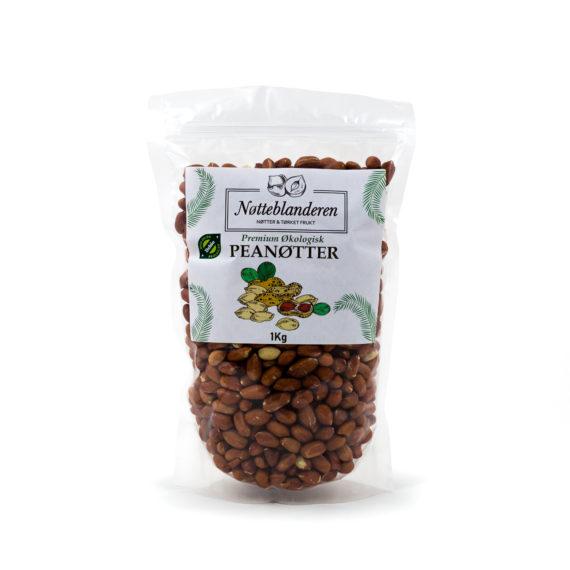 Økologiske peanøtter med skinn 1 kg