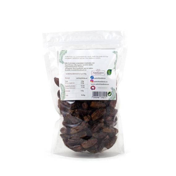 Økologiske dadler (steinfrie) 1 kg