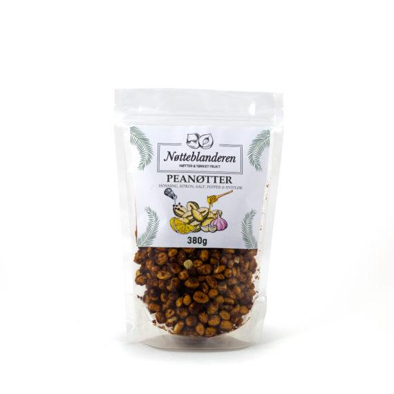 Peanøtter med honning, hvitløk, pepper og sitron 380 g