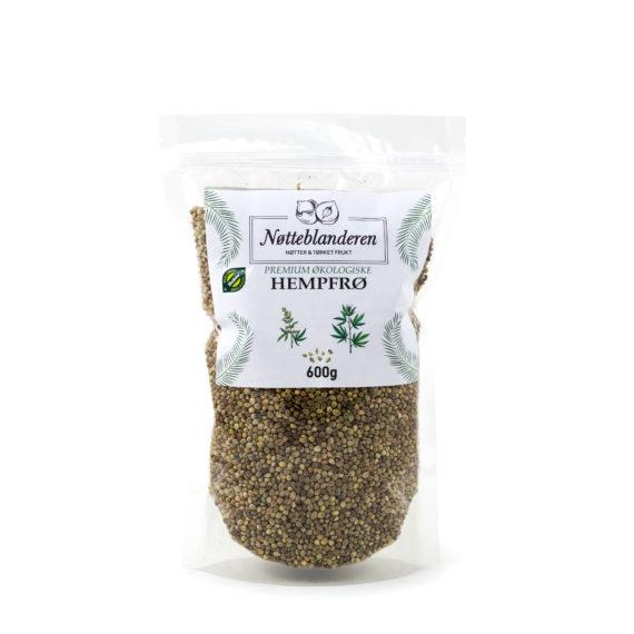 Økologiske hempfrø med skall 600 g
